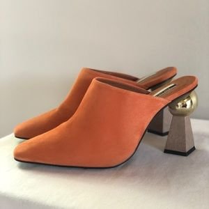 Gala Sculptured Heel Mules